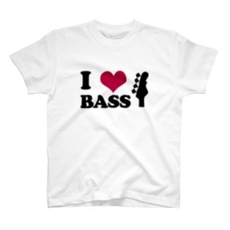 I LOVE BASS(BK) T-shirts