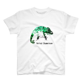 シルクスクリーン 【エボシカメレオン】 T-shirts