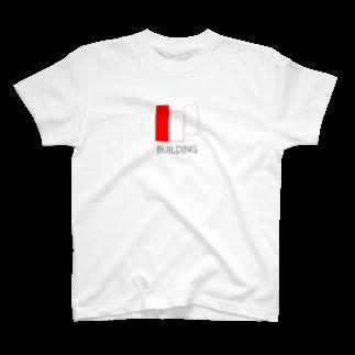 """丁寧に生きるということのTシャツ""""建築"""" T-shirts"""