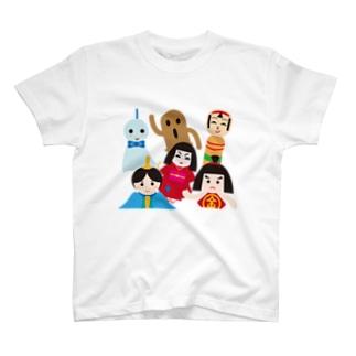 フォーヴァの日本の人形ALL-hina doll and dolls of the world-お雛はんと世界の人形たち- T-shirts