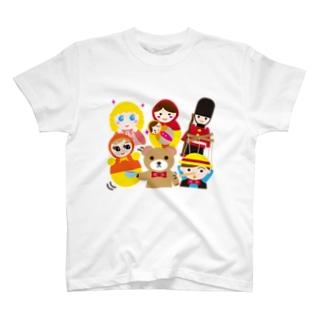 世界の人形ALL-hina doll and dolls of the world-お雛はんと世界の人形たち- T-shirts