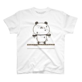 かわいいぱんださん綱渡り T-shirts