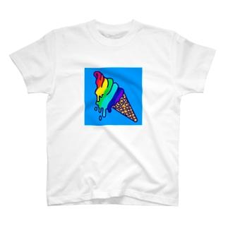 レインボーアイスクリームTシャツB T-shirts