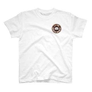 ほわほわのもしゃれ~な もしゃ子さんセピア T-shirts