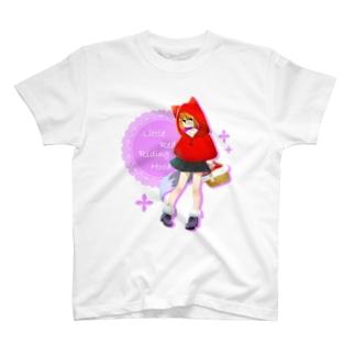 赤ずきん 薄色T T-shirts