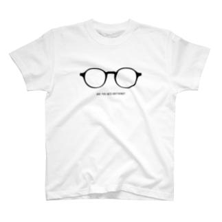 ラウンドフレーム 丸メガネ T-shirts