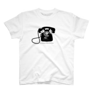 レトロ 黒電話 T-shirts