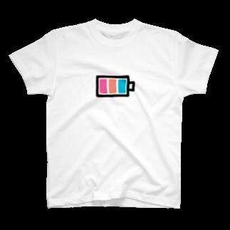 ワタガシショップ(綿菓子あこ)のWGS(電池) T-shirts