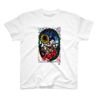 「むんじゅる」琉球デジタル版画 TY0004D T-shirts