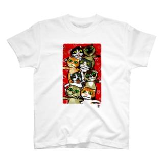 「高安家の猫大集合」琉球デジタル版画 TY0007D T-shirts