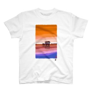 「牛車」琉球デジタル版画 TY0009D T-shirts