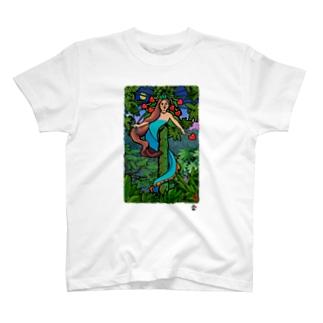 「ニライカナイ」琉球デジタル版画Tシャツ TY0076D T-shirts