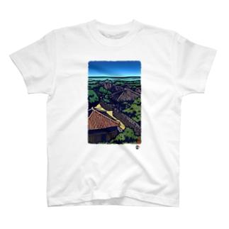 「竹富」琉球デジタル版画Tシャツ TY0087D T-shirts