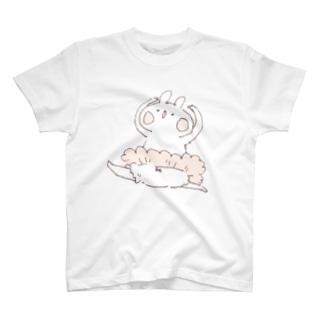 *momochy shop*のバレエうさぎ T-shirts