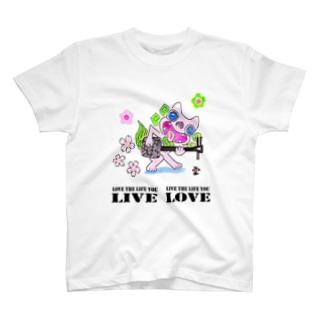 「三線シーサーに素敵な言葉②」琉球絵物語 ST027 T-shirts