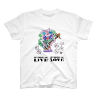 「三線シーサーに素敵な言葉①」琉球絵物語 ST029 T-shirts