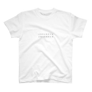 19920916-20180916 T-shirts