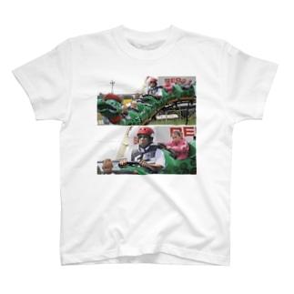 ジェットコースターに乗る T-shirts