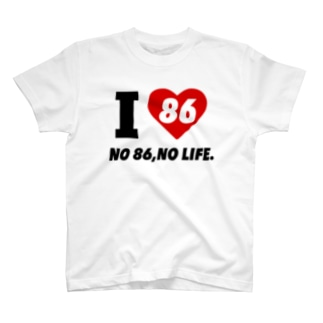 I LOVE 86【Red Accent】 T-shirts