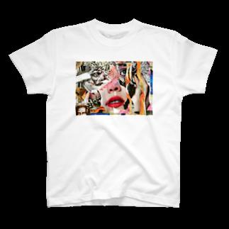 chisacollageの  wanderlando T-shirts
