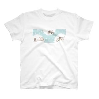 Sleeping Dog 眠たいワンコ T-shirts