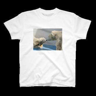 あおい's libraryのしろくま T-shirts