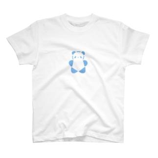 SIROPANDAワンポイント(大)(Blue) T-shirts
