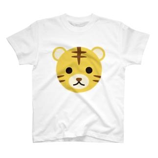 干支丸-寅-animal up-アニマルアップ- T-shirts