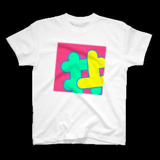 イノウエ向けアイテム販売所のイノウエネオンカラー ピンク T-shirts
