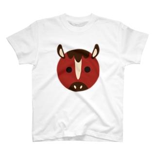 干支丸-午-animal up-アニマルアップ- T-shirts