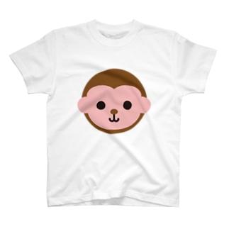 干支丸-申-animal up-アニマルアップ- T-shirts