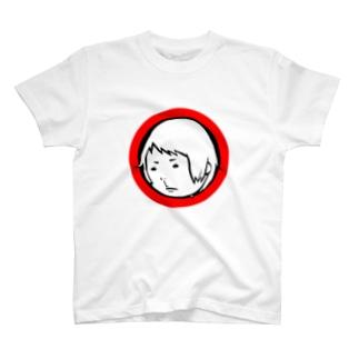 踏んだ人。(顔) T-shirts
