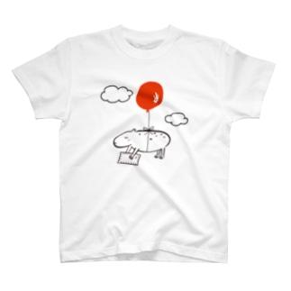 カピバラ風船 T-shirts
