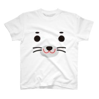 アザラシ-animal up-アニマルアップ- T-shirts