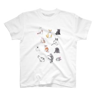 ネコいっぱい2 T-shirts