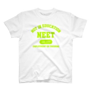 NEET(ライムグリーン) T-shirts