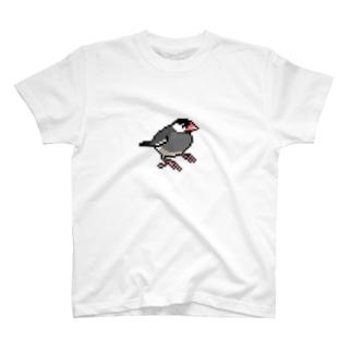 ドット絵文鳥シリーズ T-shirts