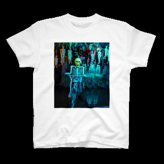 NAZOTOWNの地獄のスカルライダー T-shirts