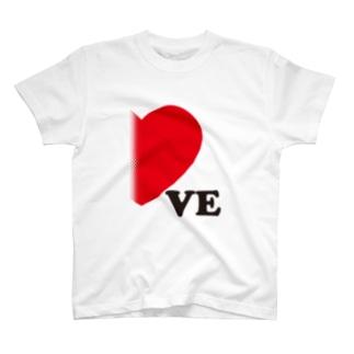 【suzuri店限定】ドットが♥ ラブラブ VE ペアルック T-shirts