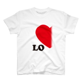 【suzuri店限定】ドットが♥ ラブラブ LO ペアルック T-shirts