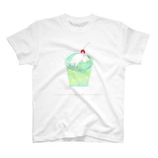 とけかけのバニラアイスと思ったら夢中でへばってる犬だった T-shirts
