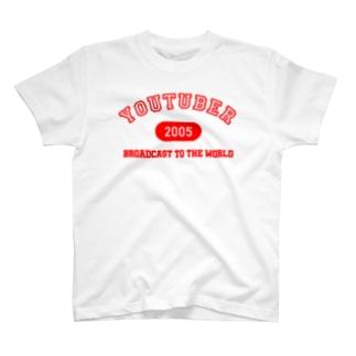 YOUTUBER(赤) T-shirts