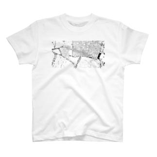 stone2 white T-shirts