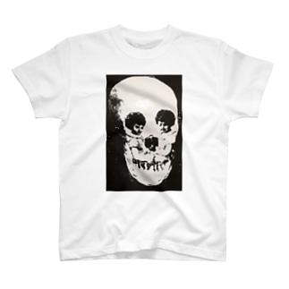 トリックアート スカル T-shirts