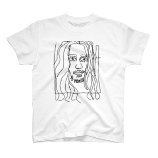 落書きアートフェイスプリント T-Shirt