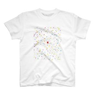 きみがきみの道を向くとき僕はそのうしろで小さくならえをするよ T-shirts
