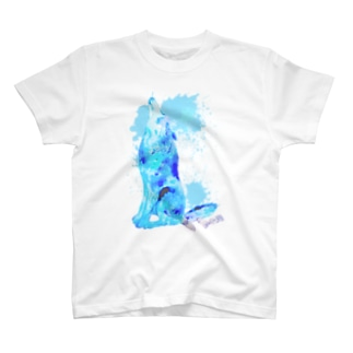CLEAR BLUE WOLF T-shirts