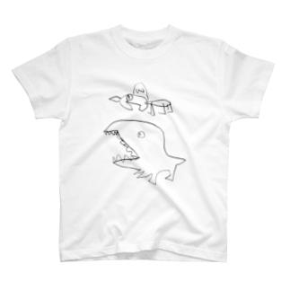 トリケラトプスとティラノサウルス T-shirts