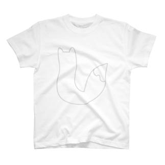 キツネの日向ぼっこ T-shirts