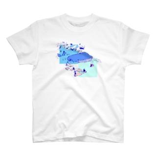 くじら舟 T-shirts